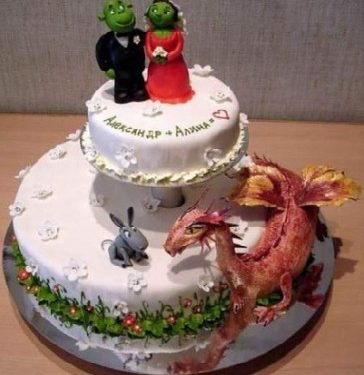 Torte strane e folli . La torta Shrek